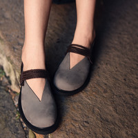 Artmu 2017 Fashion Hook Loop Women S Shoes Single Shoes Woman Cowhide Genuine Leather Flat Shoes