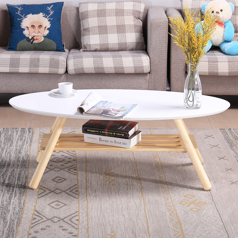 US $199.0 |Mid Century Modern Oval Wood Center Table Living Room Furniture  Contemporary Low Center Sofa Side Table Wooden Casual Tea Table-in Coffee  ...