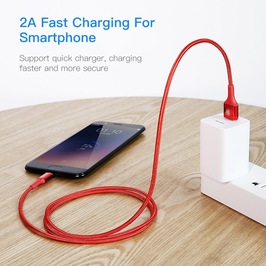 Baseus Lighting Micro USB кабель для Xiaomi Redmi Note 7 8 10 USB зарядное устройство Синхронизация данных Реверсивный Кабель Microusb для samsung S7 Cobo