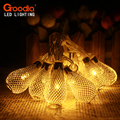 1M AA Battery Operation led string LED Metal Drip String Lights Christmas lights navidad luci nataleguirlande exterieur