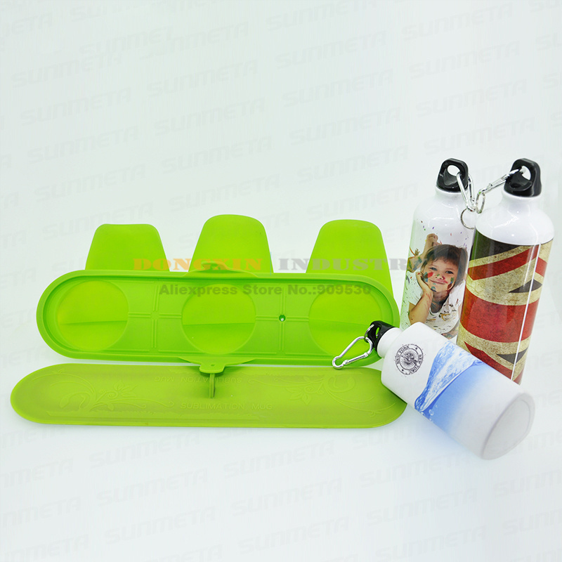 3 in 1 Thermostability Rubber Sports Kettle Clamps Mould For 3D Sublimation machine