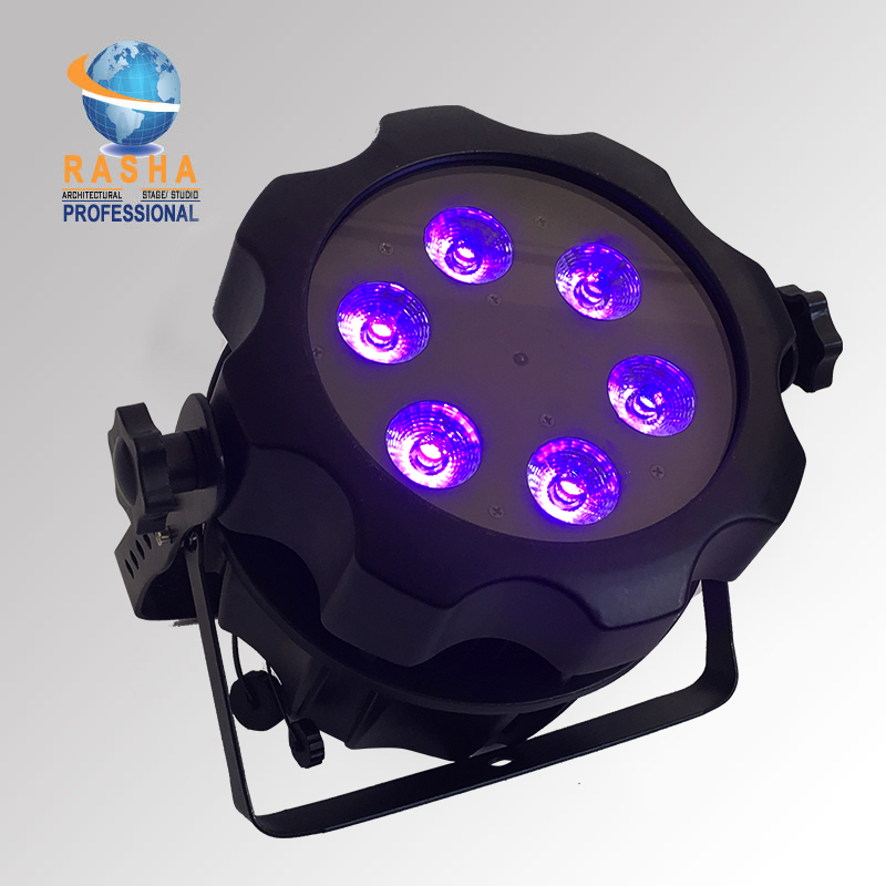 RASHA AQUOS IP65 Waterproof Battery Powered Wireless LED Par Light For Event Party 6*18W 6IN1 RGBAW UV Battery Operated Uplight freeshipping 10in1 charging flightcase packing 12 18w stage wireless battery flat led par light rgbaw uv 6in1 uplighting par can