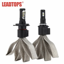 LEADTOPS Bright Car Headlights H1 H4 H7 LED H8 H9 H11 H3 9007 9005 9006 Auto Front Bulb Automobile Headlamp 60W Lamps for car EE