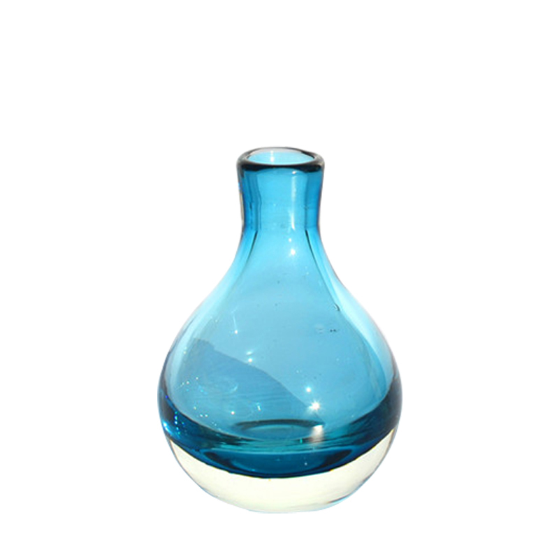 Europe coloured Small glass vase mini vase Flower arrangemen terrarium glass containers home decoration accessories modern in Vases from Home Garden
