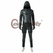 Cosplaydiy Green Arrow Season 5 Oliver Queen Cosplay Costume Men Outfit For Halloween Cosplay Custom Made