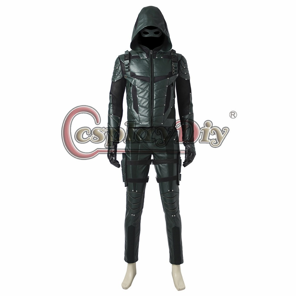 Cosplaydiy Green Arrow Season 5 Oliver Queen Cosplay Costume font b Men b font Outfit For