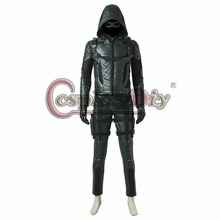 Cosplaydiy Green Arrow Season 5 Oliver Queen Cosplay Costume Men Outfit For Halloween Cosplay Custom Made J10