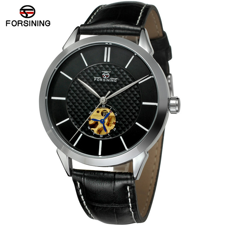 Fashion Mechanical Watches Men Luxury Brand Forsining Automatic Self Wind Wristwatches Leather Strap Relogio Masculino