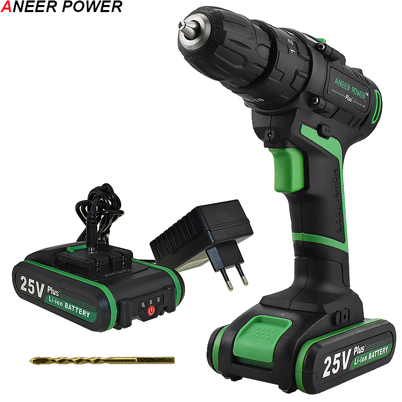 25V Plus Double Speed Electric Impact Drill Hand Drill Battery Cordless Hammer Drill Electric Screwdriver Home Diy Power Tools 25V Plus Double Speed Electric Impact Drill Hand Drill Battery Cordless Hammer Drill Electric Screwdriver Home Diy Power Tools
