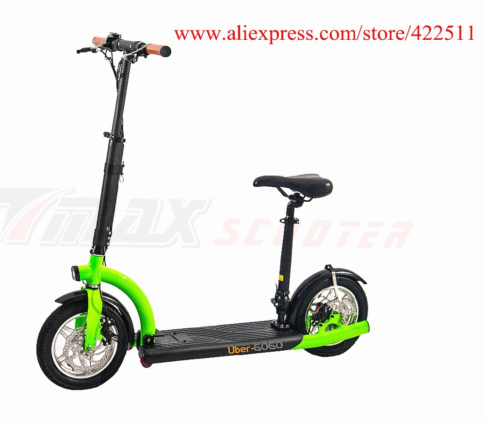 2016 Brand New 300W 36V Hub-motor Electric Scooter 10.4Ah Lithium Battery 2 Wheel Electric Scooter with Seat economic multifunction 60v 500w three wheel electric scooter handicapped e scooter with powerful motor