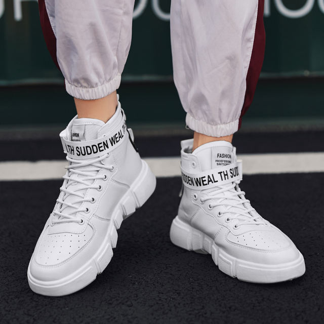 YRRFUOT Men's High Top Fashion Sneakers Trend Hot Sale Comfortable Man Casual Shoes  Outdoor Non-slip Breathable Men Shoes