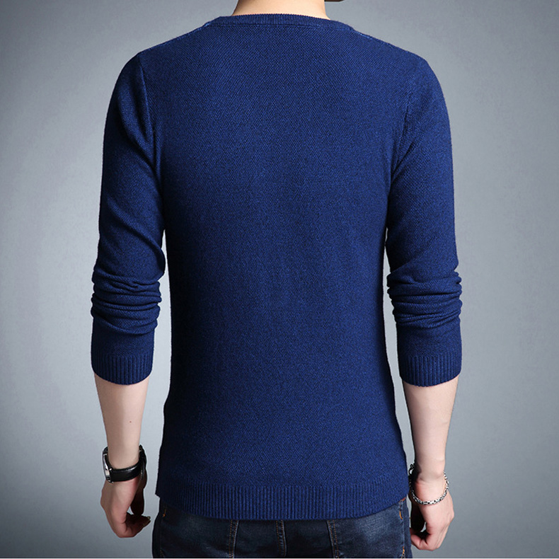 Mwxsd Brand 2019 fashion pullover sweaters Simple style O neck sweater jumpers Autumn Thin male knitwear Plus M-4XL 2