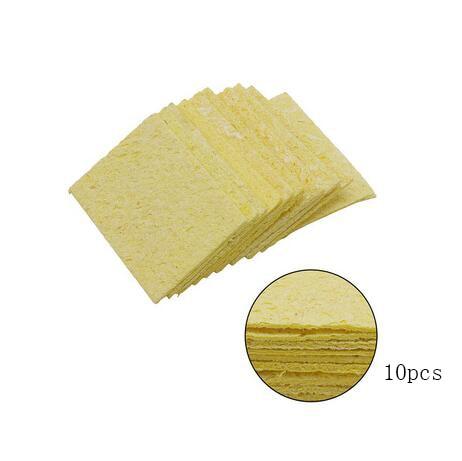 JCD 60 Вт Электрический паяльник с регулируемой температурой 110 В 220 В паяльная Сварка инструмент для переделки керамического теплового припоя наконечники подставка проволока - Цвет: Цвет: желтый