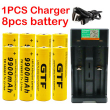 Новинка 18650 Аккумулятор 3,7 в 9900 мАч перезаряжаемый Лев аккумулятор для светодиодной вспышки светильник батарея 18650 батарея+ USB зарядное устройство