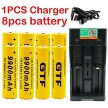 Nowa bateria 18650 3 7V 9900mAh akumulator lion na światło flash led bateria 18650 bateria hurtowa + ładowarka USB tanie tanio USB+9900mah 3500 mAh Li-ion Ładowarka Zestawy Pakiet 1 DAWEIKALA