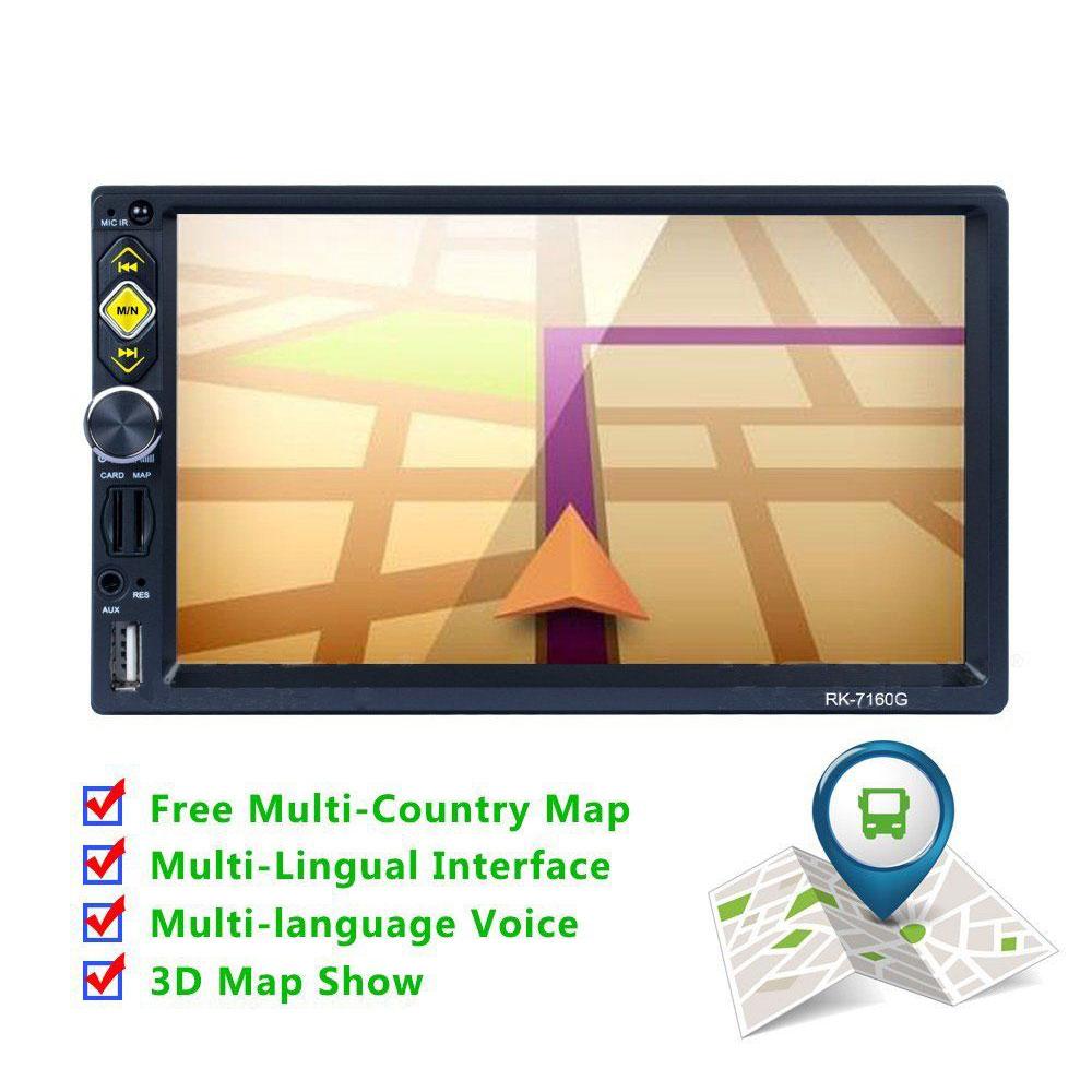 Gps Navigation 7 Inch Europe Car Radio Gps 2 Din Mp5 Player Touch Screen Bluetooth Audio Stereo Navigator 2018 Eu Free Map navigator 71 422 nls 5050y30 7 2 ip20 12b r5 5 4670004714225 220235