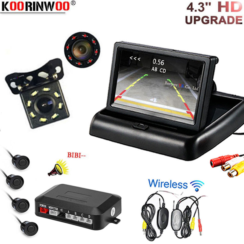 Shock proof car parking camera with 5 car screen mirror rainproof function Dynamic track line 4