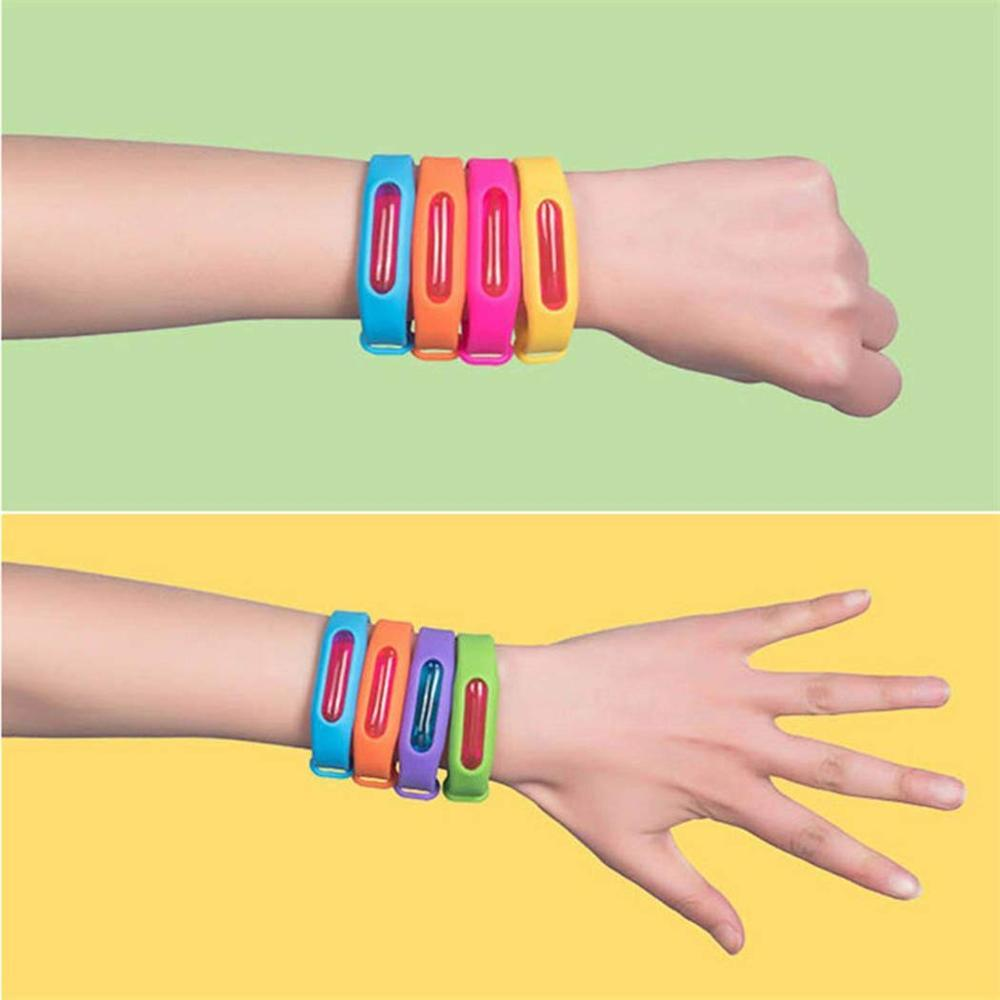 Image 5 - Color Mosquito Repellent Bracelet Summer Environmental Protection Silicone Capsule Bracelet Child Safety Belt Mosquito Killer-in Repellents from Home & Garden
