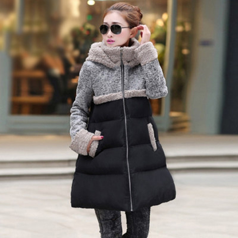 2017 Winter Quilted Jacket Fashion Women Plus Size Lamb Wadded ... : quilted jacket plus size - Adamdwight.com