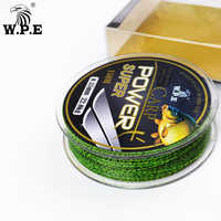 W.P.E Brand Super Power Carp fishing Line 0.2mm-0.60mm Fluorocarbon Coating Fishing Line 10-41KG Double color Fast Sinking Line