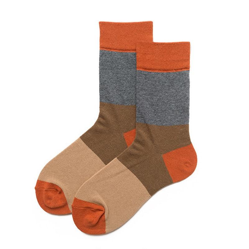 1 Pair/Lot Mixed Colorful Business Cotton Men Socks Spring Fall Happy Funny Dress Socks Male Fashion Wedding Gift Socks Meias