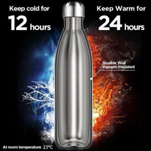500ml Super Cool Insulated Flask Thermal Stainless Steel  3