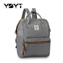 Nova médio bookbags lona estilo preppy mochila apliques mulheres simples pacote de compras senhoras sacos de viagem escola estudante mochila(China (Mainland))
