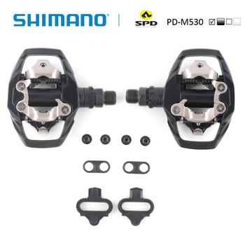 SHIMANO PD-M530 SPD pedał MTB Mountain XC zatrzaskowy rower w tym SM-SH51 knagi idealne na szlak i rower górski wycieczki pedał tanie i dobre opinie Aluminium stop Rowery górskie Rowery drogowe Samohamowność pedału