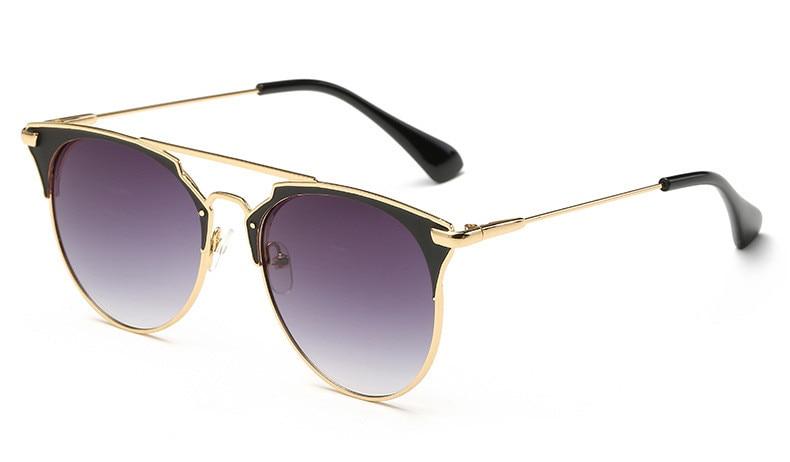 Luxo vintage redondo óculos de sol das