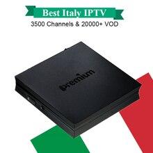 Лучшие итальянские Италия IPTV Бесплатная 1 год 3500 каналов + 25000 + VOD Бесплатная IPremium I7 Android TV Box DVB-S2 декодер Smart tv box