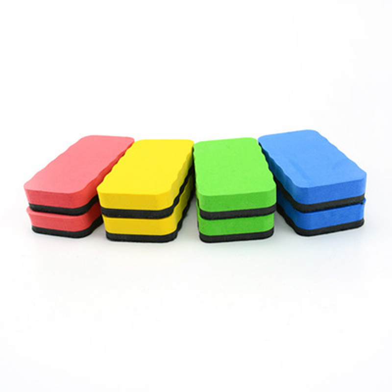 4 Pcs Solid Color Eva Magnetic Whiteboard Eraser Mark Clean School Office Whiteboard And Blackboard Stationery For School