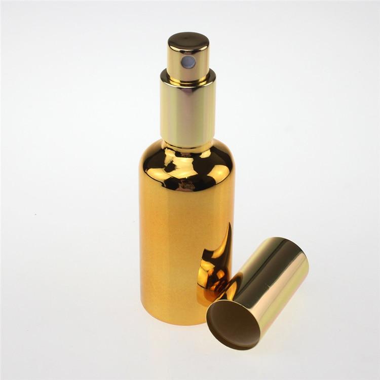 بطری اسپری 50 میلی لیتری با کیفیت بالا 100 میلی متر شیشه اسپری 50 میلی لیتری برای عمده فروشی عطر ، بطری های عطر اسپری شیشه ای 50 میلی لیتری طلایی 50 میلی لیتر