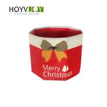 Non-woven Christmas tree skirt foldable Merry letter bow decoration New Year HOYVJOY