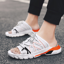 Mangobox Summer Shoes For Unisex Black White Men Athletic Sandals Hard-Wearing Women Beach Sport Shoes Outdoor Walking Sneakers crocodile summer women height beach sneakers outdoor soft walking shoes women leisure sandals femme light cushion sport shoes