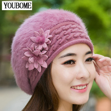 Beanies Women Fur Winter Women's Hats Beret Girls Knitted Winter Hats For Women Bonnet Caps Brand Wool Ladies Warm Skullies Hat