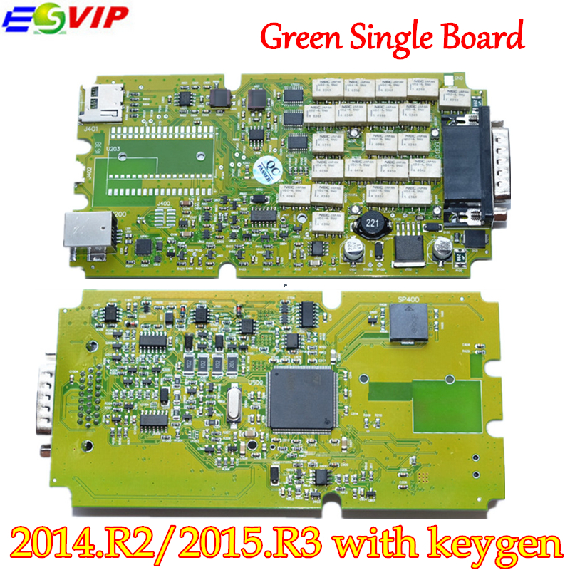 New arrival Single Board TCS CDP PRO PLUS +Generic 3 in 1 New NEC Relays bluetooth 2014 R2/2015R3 With Keygen tool free shipping single green board multidiag pro 2014 r2 keygen
