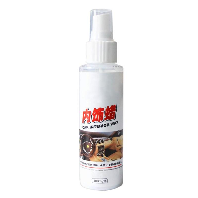 VODOOL 100mL Car Auto Interior Center Console Dashboard Leather Cleaning Agent Detergent Seat Cushion Door Leather Wax Polishes