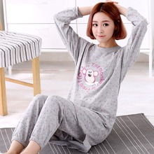 Brand New Long Sleeved Cotton Pajamas Sweet Girl Pyjama Women Sleep&Lou