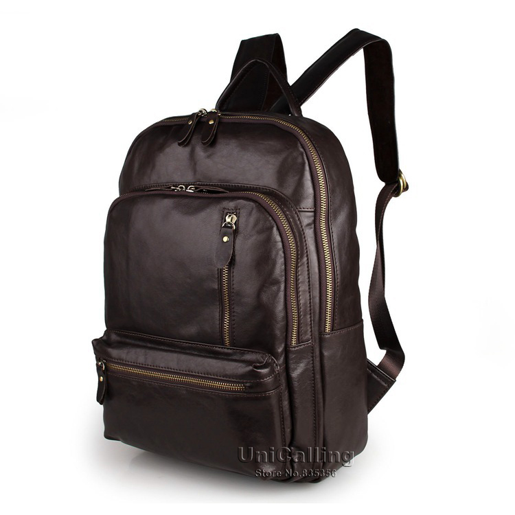 Brand women leather backpack vintage fashion genuine leather school backpack for women travel casual laptop backpack
