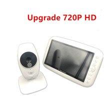 ИК переговорное устройство с режимом ночной съемки 4 колыбельные ЖК дисплей экран няня видео видеоняни и радионяни, 7 дюймов беспроводной видеоняня поддерживает экран Разделение