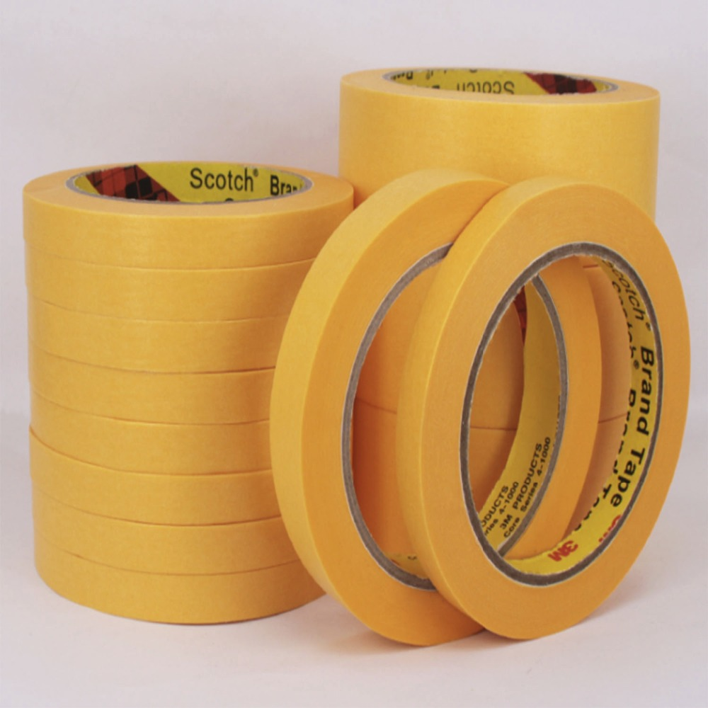 40mmx164ft 3M244 High Temperature Resistant Adhesive Masking Tape Good For Car Paint Masking heat resistant high temperature masking adhesive tape 19mm 50m 290 c