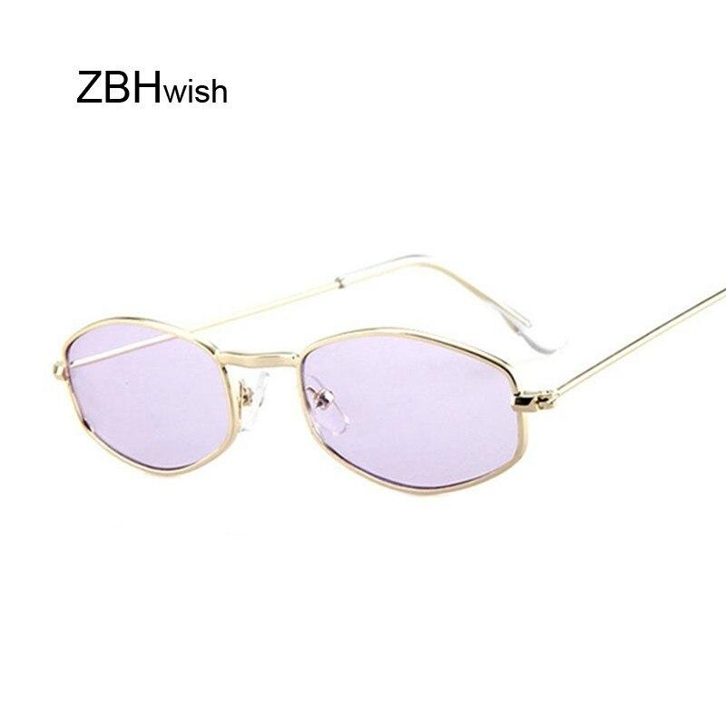 Small Frame Rectangle Sunglasses Women Retro Mirror Metal Sun Glasses Female Vintage Brand Designer Lunette De Soleil Femme