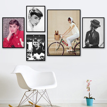 Fashion Audrey Hepburn Art Prints Modern Wall Canvas Painting Nordic Posters And Decoration Pictures For Living Room