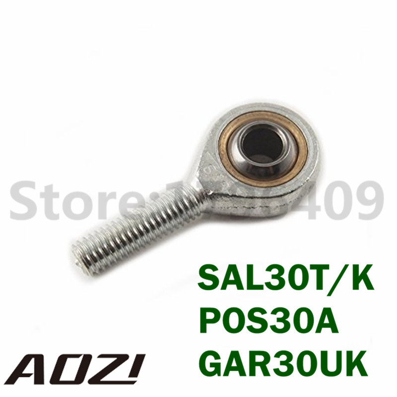 30mm Bore SAL30T/K POS30A GAR30UK Male Metric Threaded High Quality Male Thread Rod End Joint Bearing Free Shipping 1pc female metric spherical plain threaded rod end joint bearing phsa30 si30t k30mm left hand lh l shipping high quality