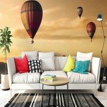 Dropshipping Papel pintado Fatman para paredes 3 D atardecer globo De aire caliente Vintage Papel tapiz 3d Foto Mural cubierta De pared Papel De pared