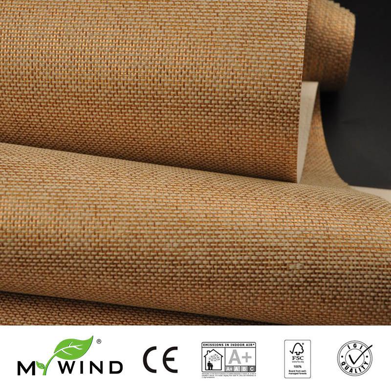 2019 MY WIND Grasscloth Wallpapers Luxury Natural Material papier peint Innocuity 3D Paper Weave Design Wallpaper In Roll Decor in Wallpapers from Home Improvement