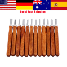 12Pcs/Lot Wood Craft Chisel Woodcut Cutter Knife Carvers Set Hand Wood Carving Chisels for Woodworking DIY Tools Best Offer 6 pcs set hand carving tools chisel woodcut chip part costume for art knife seal cutting wood working tool free shipping