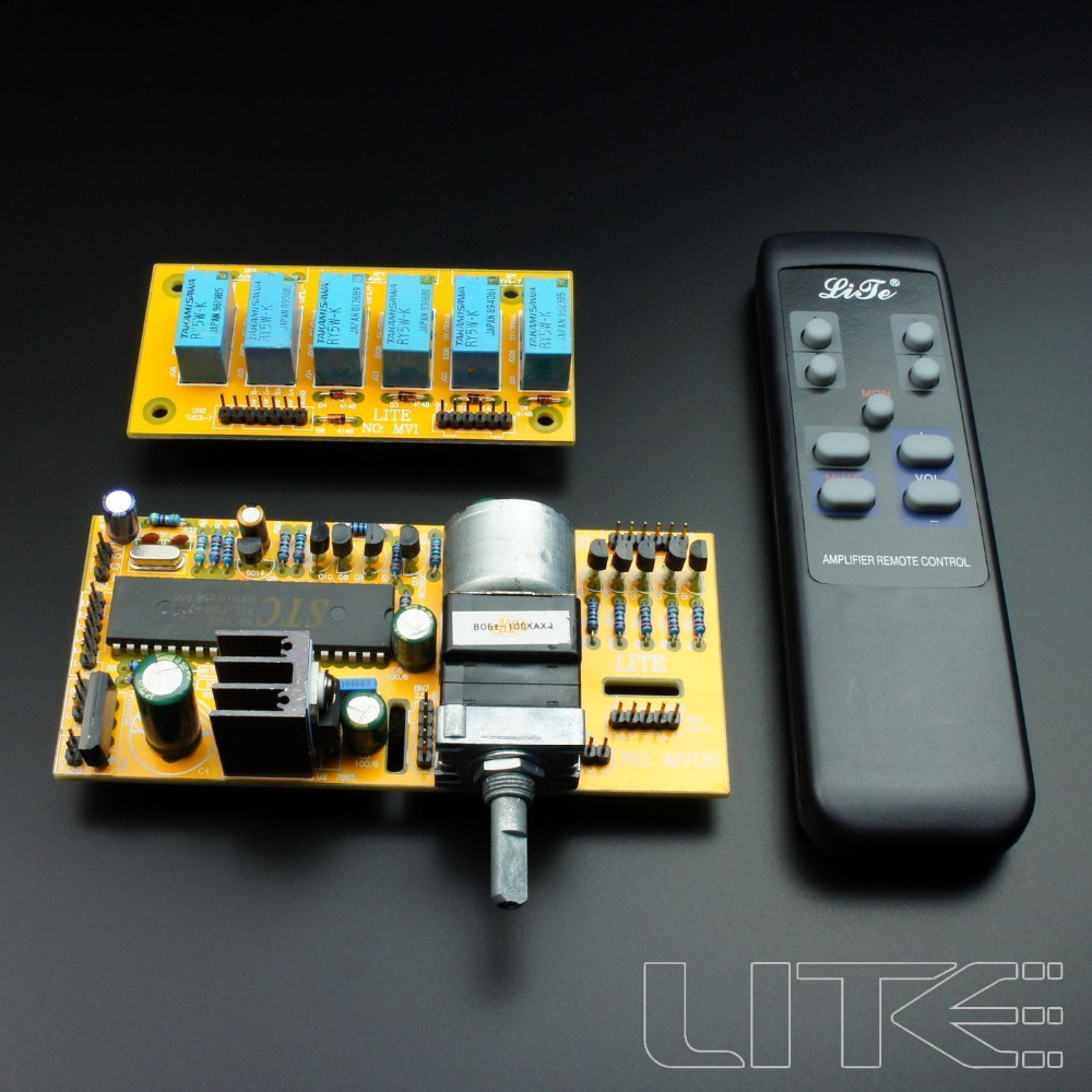 Details about LITE MV04 Motorized Remote Volume Control+Input Selector kit 099 gzlozone diy kit njw1194 remote volume conrol kit treble