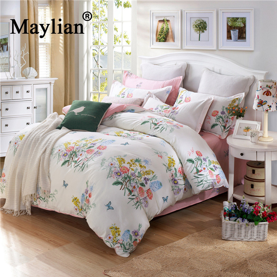 Warm Home Textile 4pcs Bedding Sets Duvet Cover Bed Sheet Pillow Cover Cotton Autumn Winter Warm Brand 2018 be1092Warm Home Textile 4pcs Bedding Sets Duvet Cover Bed Sheet Pillow Cover Cotton Autumn Winter Warm Brand 2018 be1092