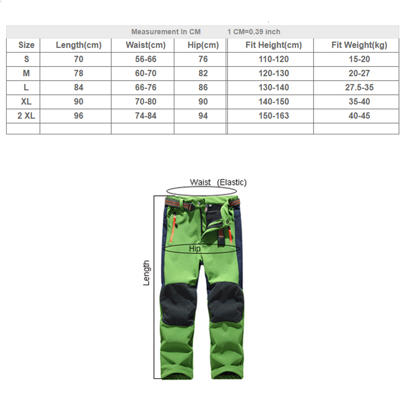 Купить с кэшбэком THE ARCTIC LIGHT Ski pants hiking camping boy girl child waterproof breathable soft shell thick pants the latest high quality